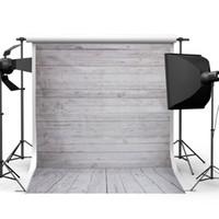 support de photographie de plancher de bois achat en gros de-2017 3x5FT 5x7FT Rétro Backdrops En Bois Mur De Sol Vinyle Photographie Fond Studio Photo Prop Photographie Toile de Fond Tissu