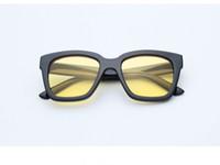 óculos de sol uv amarelo venda por atacado-Agstum nova moda homem womens uv 400 óculos de proteção quadro preto multi claro azul amarelo verde lente polarizada óculos de sol