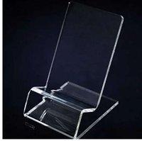 ingrosso supporto astuccio acrilico-Supporto display trasparente per tablet Phone per cellulare iPhone 5 SC 6 6s plus 7 7plus per xiaomi samsung