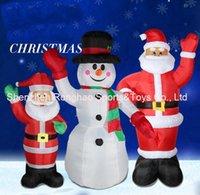 géant gonflable noël achat en gros de-Pelouse 8 pieds géant gonflable mains jusqu'à la décoration de Noël de vacances de jardin de bonhomme de neige avec la bonne qualité