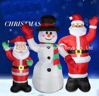 schneemann aufblasbar großhandel-Rasen 8 Fuß riesige aufblasbare Hände herauf Schneemann-Yard-Feiertags-Weihnachtsdekoration mit guter Qualität