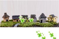ingrosso gnome casa-6 colori 3cm carino resina artigianato casa fata giardino miniature gnome micro paesaggio decor bonsai per la decorazione domestica