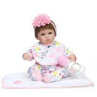 cute baby girl dolls 2018 - NPKCOLLECTION Bebe Reborn babies Dolls Soft Silicone 18inch 42cm Magnetic Lovely Lifelike Cute Boy Girl Toy bonecas gift reborn