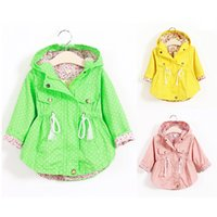 Wholesale Girls Yellow Jacket Coat - Grils Hoodies Windbreaker Outwear Coats Spring Autumn Causal Baby Girls Jackets School Windproof Sunscreen Children 2-8T