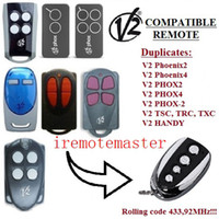 rolling code remote ersatz großhandel-Neu FOR V2 TSC2, V2 TSC4, V2 TRC2, TRC4 Fernbedienungssender Ersatz, Klonrollcode 433,92 MHz