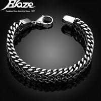 braceletes de mão mens venda por atacado-2017 mens pulseiras pulseiras 5 * 12mm 316l pulseira de mão pulseira de aço inoxidável mão presente de jóias pulseira S915