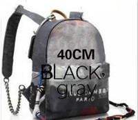 vintage style rucksack rucksack großhandel-Mode-Rucksack-Art-Graffiti druckte Leinwand-Rucksackseilbeutel, der mit mehrfarbigem Drucksegeltuchrucksack-Schultasche gestickt wird