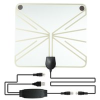 Wholesale uhf vhf antenna for sale - Group buy HDTV Antenna Indoor Digital TV Antenna with Amplifier Connected with Set Top Box UHF VHF Interior Signal Television Antenna
