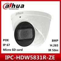 ingrosso fotocamere dahua-Dahua Originale IPC-HDW5831R-ZE 4K 8MP POE 2.7mm ~ 12mm Obiettivo motorizzato IR50m IP67 Telecamera di sicurezza SD Card Mic incorporato