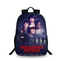 Wholesale stranger things backpack resale online - Stranger Things Season School Bags Set for Children Pencil Case Bookbag Teenager Boys Backpack mochila infantil com rodinha
