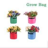 neue stoffblumen großhandel-Non Woven Fabric Grow Bag Umweltfreundliche Breathable Blumen Gemüse Garten Pflanzer Durable Resuable Blumentöpfe Neue Ankunft 14mj4 ff