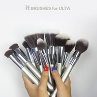 Wholesale Models Cosmetics - Ulta it brushes set Makeup Brushes 11 model Ulta it cosmetics foundation powder fan make up kabuki brush tools