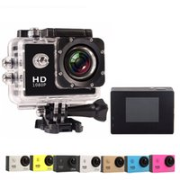 Wholesale outdoor wide angle camera - 4K HD waterproof action camera 720P 30FPS underwater 30m 120 degree wide Angle full HD 5MP DVR outdoor Digital Video camera