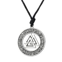 Wholesale men's necklaces for sale - Valknut Odin s Symbol of Norse Viking Warrior Amulet Pendant Adjustable Chain Necklaces Men Religious Jewelry