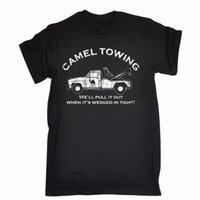 vilains t shirts achat en gros de-Casual Tops à manches courtes Tee shirts CAMEL TOWING rude offensant t-shirt vilain explicite drôle 100% coton Tee-shirt classique