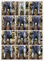 Wholesale Embroidery Jeans Pants - 2018 New Style Brand D Men's Denim Jean Embroidery Tiger Pants Holes D2 Jeans Zipper Men Pants Trousers 44-52