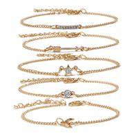 Wholesale cupids arrow jewelry resale online - New Bracelet Set Ladies Fashion Temperate Cupid Arrow Jewelry Women s Piece Anklet