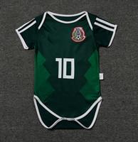 18 meses de ropa al por mayor-2018 recién llegado de venta Xxs bebé México fútbol Jersey World Cup Infant 14 Chicharito 10 Dossantos fútbol ropa niños Kit 9-18 meses de camisa