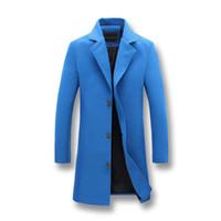 Wholesale mens acrylic winter jacket resale online - Men Fashion Jackets Men Slim Fits Coats Business Mens Long Winter Windproof Outwears Plus Size xl Black