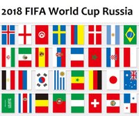 Wholesale bunting string flags - 11.4m 8.5m 32 Team National Flag for 2018 FIFA World Cup Russian Football Soccer Country World Banner Bunting 14x21cm 20x30cm String Flag