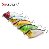 Wholesale fishing spoon lures free shipping for sale - Group buy SEALURER Fishing Sinking VIB Lure g cm Vibration Vibe Rattle Hooks Baits Crankbaits Colors Y18100806
