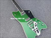 atado de guitarra de abulón al por mayor-Raro Gre G6199 Billy-Bo Jupiter Metálico Verde Thunderbird Guitarra eléctrica Abulón Cuerpo Cuello Encuadernación, Bigs Tremolo Tailpiece, Liquidación