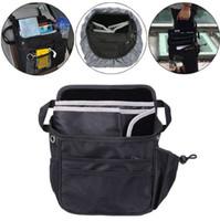 Wholesale Car Seat Covers Storage - Auto Car Front Back Seat Pockets Organizer Multi Pocket Storage Bag Cover Seat Back car Organizer bag GGA91 5PCS