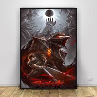 Wholesale wall anime poster for sale - Group buy Berserk Poster Japan Anime Art Silk Posters Wall Decor Prints