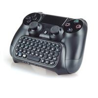 jogo com joystick venda por atacado-Moda ps4 acessórios joystick ps4 sem fio chatpad play station 4 teclado mensagem para sony playstation 4 / slim / pro controlador de jogos