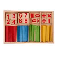 matematik oyuncakları toptan satış-Çocuk Ahşap Oyuncaklar Matematik Sayılar Bulmaca Oyuncaklar Çocuk Kid Eğitim Erken Öğrenme için Sayma Matematik Oyunları Hesaplamak