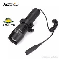 ingrosso luce bianca zoomabile-G700 / E17 Tactical led bianco caccia Pistol torcia luce flash CREE T6 LED luce zoomable impermeabile torcia elettrica + scope mount + Remote Switch