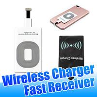 qi receptor micro usb venda por atacado-Universal Qi sem fio Carregador Receiver 5V Design Portátil carregamento rápido Adaptador para Telefone 5 5S 6 7 Micro carregamento USB Tipo C izeso