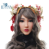 Wholesale crossdresser female masks resale online - drag queen Princess Christina face mask for European Silicone female mask for Masquerade Halloween mask Crossdresser with video shows