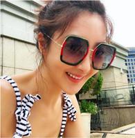 unregelmäßige polygone großhandel-Übergroße rosegold sonnenbrille frauen einzigartige 2017 polygon unregelmäßig polarisierte hipster sonnenbrille mädchen vintage große sonnenbrille frauen