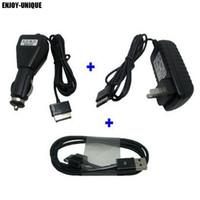 chargeur de voiture de synchronisation achat en gros de-USB date câble de synchronisation + chargeur de voiture + adaptateur adaptateur secteur US pour Asus eee Pad Transformateur TF300 TF300T TF700 TF700T TF201 TF101 SL101