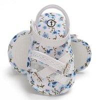 zapatos princesa impreso al por mayor-Bebé recién nacido Floral primeros zapatos para niños pequeños Walker Impresión de mariposas Princess Casual zapatos suaves para verano