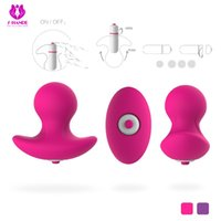 Wholesale Vibrator Egg Butt Plug - SHD-S002 Silicone Pink Purple Color Anal Plug Vibrator Egg Adult Sex Toys for Men Butt Plug Waterproof