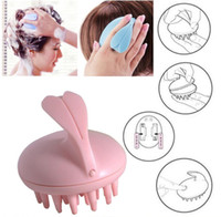 Wholesale vibrating hair - Scalp Massage Hairbrush Vibrating Silicone Comb Massager Electric Hair Brush Head Waterproof Electric Massage Brush Massage Comb