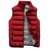 Wholesale men s winter vest casual resale online - Men s Slim Fit Jacket Sleeveless Fashion Winter Casual Outwear Warm Vest Men Cotton Padded Mens Vests Colors S XL
