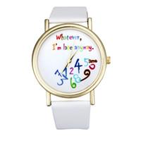 vogue watch bands venda por atacado-2017 Nova digital impresso Relógios De Quartzo Das Mulheres Pulseira de Couro Personalidade Relógio Pulseira Relógio Analógico Vogue