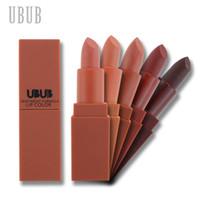 Wholesale ubub makeup for sale - Group buy UBUB Matte Lipstick Moisturizer Smooth Long Lasting Charming Lips Makeup Pumpkin Color Lip Stick Cosmetic Beauty Makeup
