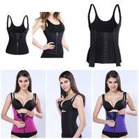 corsés de fitness al por mayor-Hot 2 en 1 Mujeres Adelgazar Corsé Fajas Body Shaper Panza Cintura Trimmer Fitness Cinturón Chaleco
