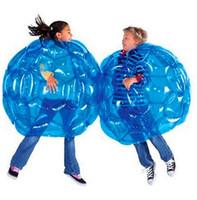 kostenlose hochzeitswerbung großhandel-Aufblasbare Körper Bumper Ball PVC Luftblase Outdoor Kinder Spiel Bubble Buffer Bälle Outdoor-Aktivität 60 cm
