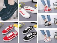 Wholesale Canvas Shoes Van - 2018 Hot sell Big Kids Boys and girls old skool Canvas casual shoes sneakers shoes casual Flats zapatillas trainers Van