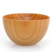 Wholesale jujube wood resale online - High quality Japanese Style Wood Bowl Noodle Bowl Zizyphus Jujube Wood Food Containers BowlS Safe Salad Soup bowls Nice Tableware Free Ship