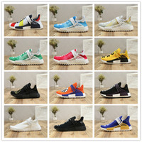 Wholesale cc cotton - 2018 New Human Race Pharrell Williams Runner Pk Sean Wotherspoon Running Shoes Men Women PW x CC HU Fashion Casual Sports Sneakers EUR 36-45