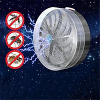 sivrisinek güneş böcek öldürücü toptan satış-Yeni UV Lamba Işık Güneş Enerjili Sivrisinek Katili Lambaları Buzz Yaz Yatak Odası Fly Böcek Bug Sivrisinek Öldürmek Zapper Killer Kapalı Açık
