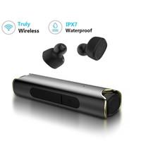 ipx7 bluetooth großhandel-S2 True wireless Bluetooth Kopfhörer Mini TWS Ohrhörer IPX7 Wasserdichte Zwillinge Stereo Musik Headset für Telefon iPhone Samsung