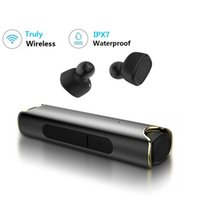 bluetooth ipx7 al por mayor-S2 Verdaderos auriculares inalámbricos Bluetooth Auriculares Mini TWS Auriculares de música estéreo IPX7 a prueba de agua para teléfono iPhone Samsung