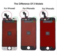 satılık iphone lcd ekranlar toptan satış-Fabrika Satış LCD Iphone 5 iphone 5c iphone 5 s Ekran Ekran Bölüm Cam Dokunmatik Panel Digitizer Meclisi Komple Araçları Ekran